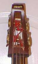 Upright Electric Bass headstock